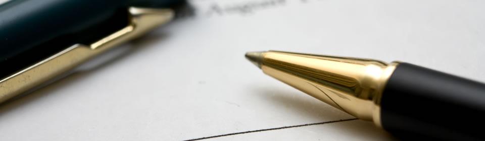 Pen en contract